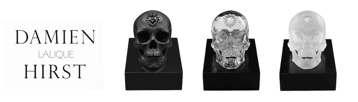 Sculptures des trois crânes - Lalique - Damien Hirst
