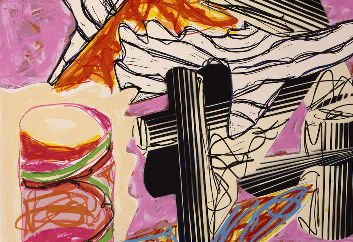 Peinture de Frank Stella - Illustration d'après El Lissitzky's 'Had Gadya' : 10 And the Holy One, Blessed be He...