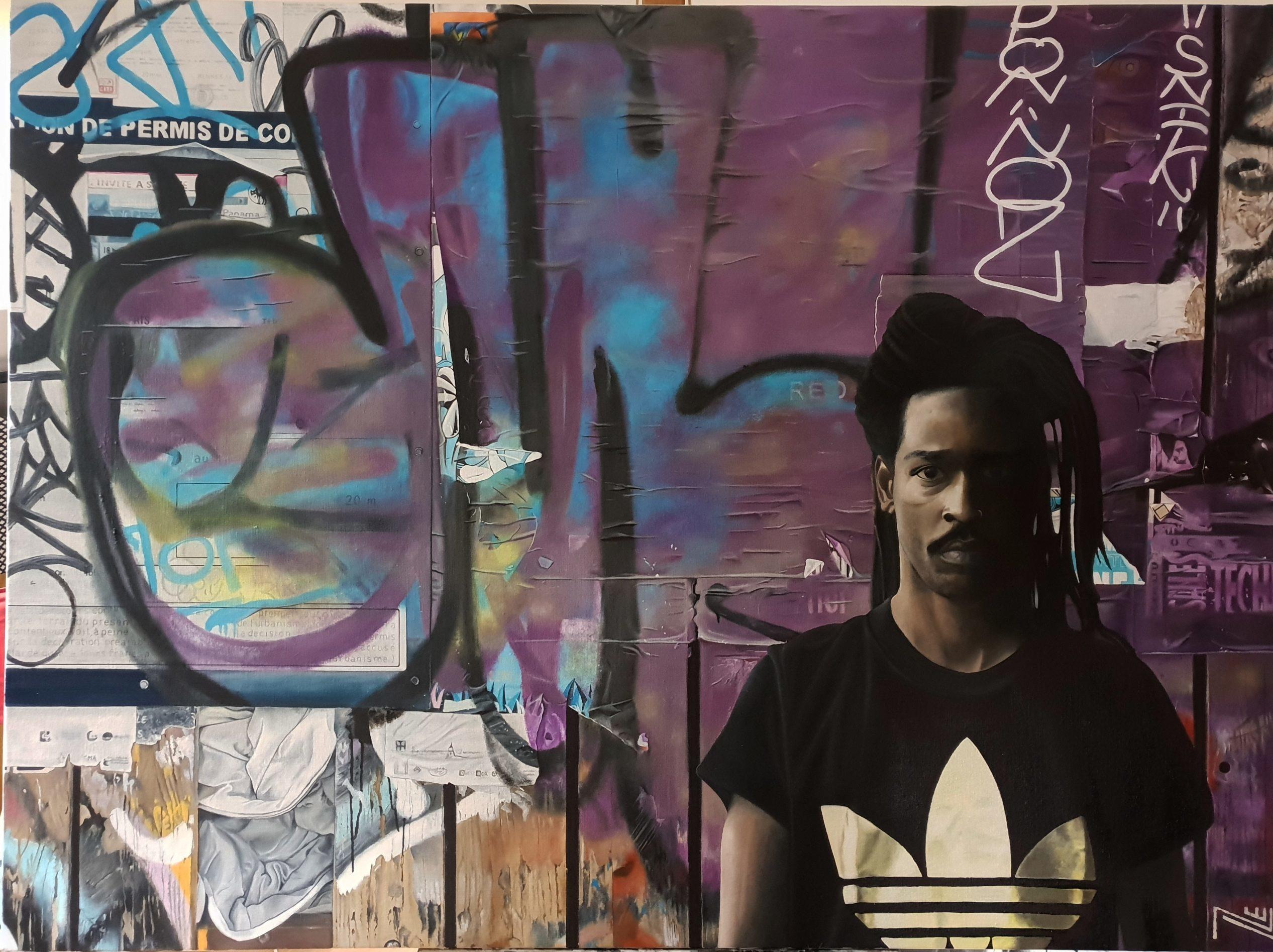 Nicolas Clézio hyper réalisme graffiti tag street art