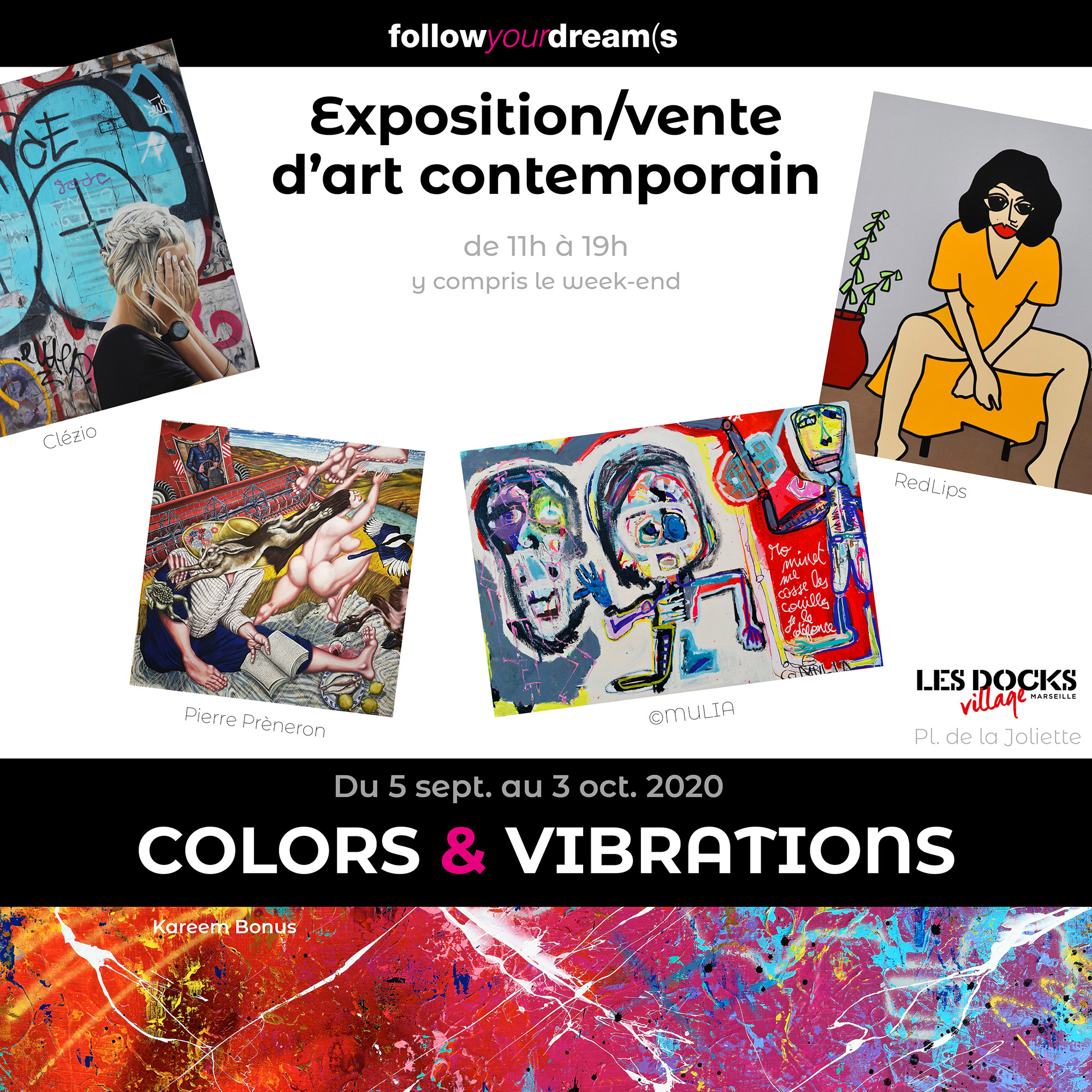 colors & vibrations exposition art contemporain docks village