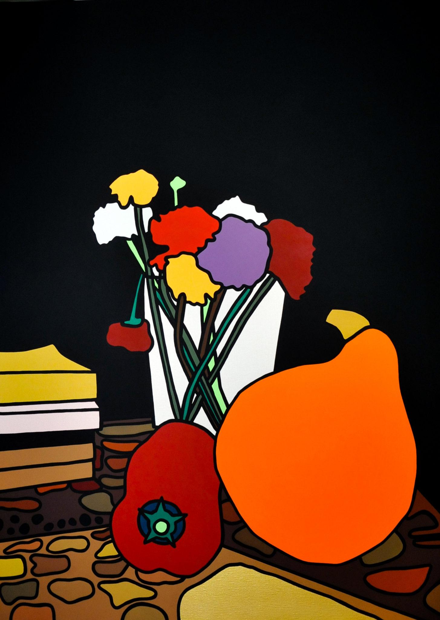 Fleurs d'hiver peinture acrylique RedLips